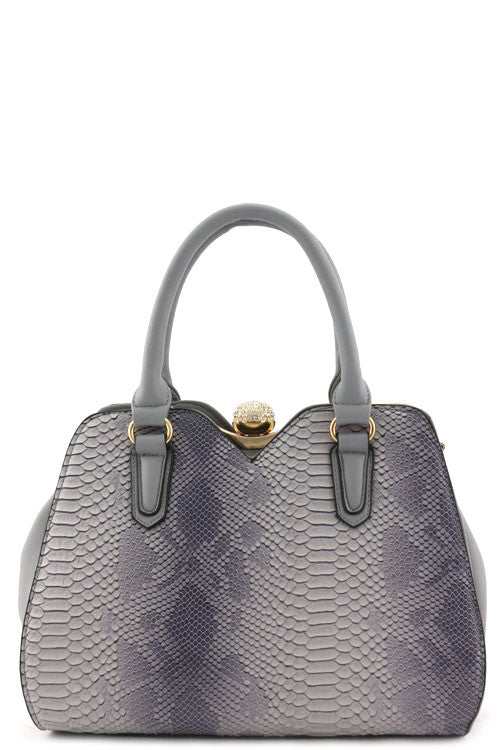 Cocktail Grey Animal Print Tote Bag