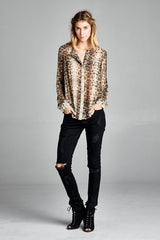 Elegant Animal Print Blouse