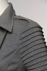 Fashion Grey Moto Jacket
