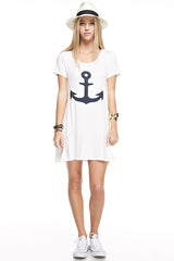 Anchor White Tunic Dress