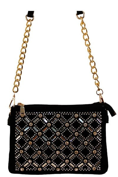 Fashion Crystal Glamour Black Mini Bag