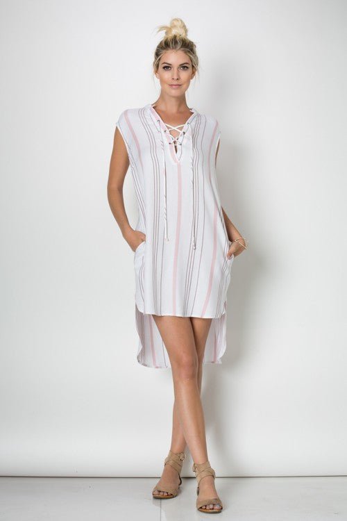 Resort Casual Tunique Multi-Color Dress