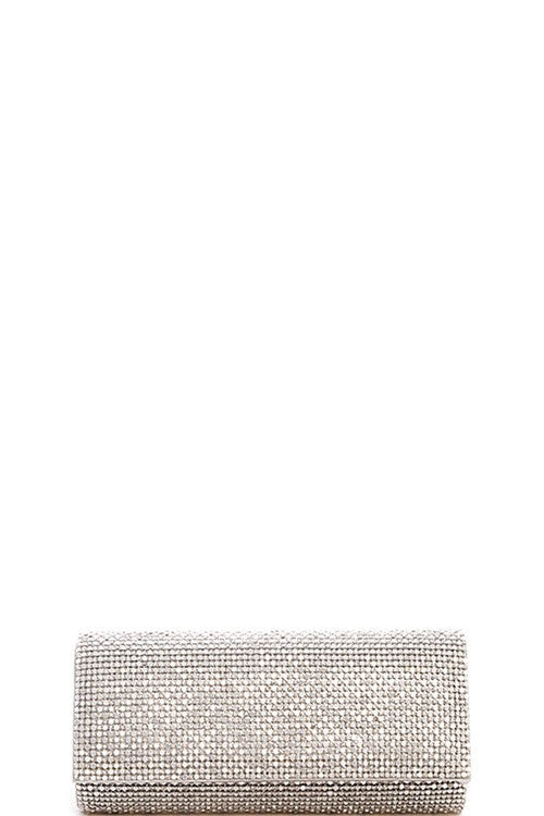 Cocktail Crystal Silver Clutch