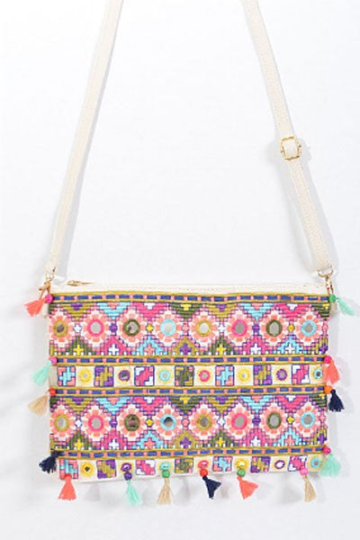 Fashion Pom Pom Multi-Color Mini Bag