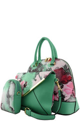 Elegant Brown Floral Watercolor Tote Bag Set