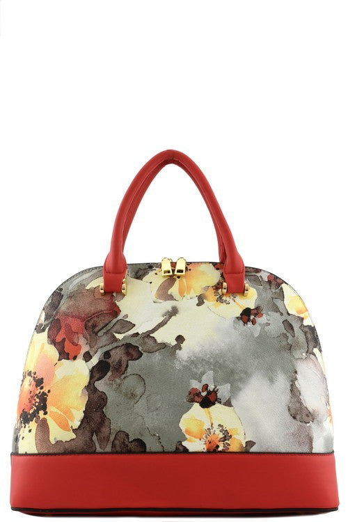 Elegant Red Floral Watercolor Tote Bag Set
