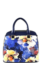 Elegant Blue Floral Watercolor Set Bag