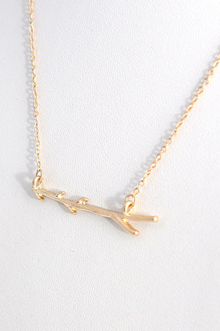 Fashion Tree Branch Pendant Gold Necklace