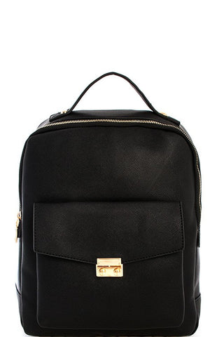 Elegant Modern Black Backpack