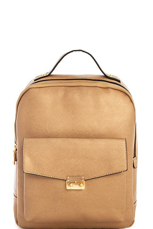 Elegant Modern Gold Backpack