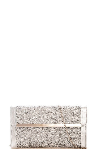Elegant Silver Evening Clutch
