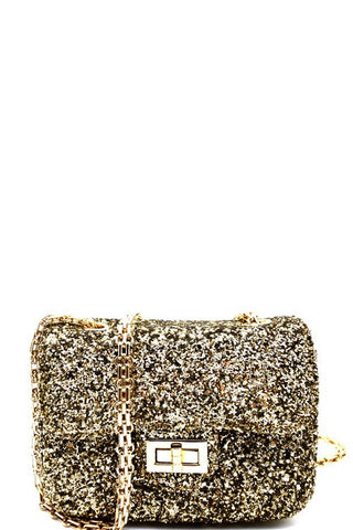 Fashion Gold Glitter Handbag