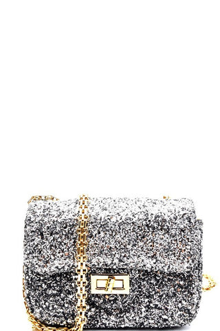 Fashion Silver Glitter Handbag