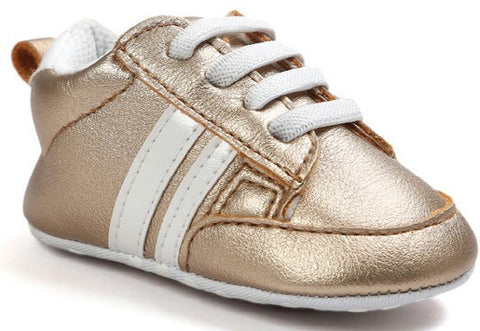 Fashion Gold White Baby Sneaker