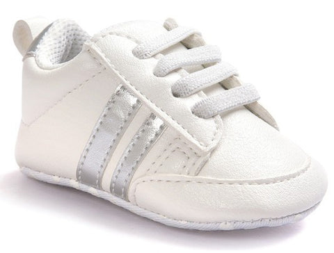 Fashion White Silver Baby Sneaker