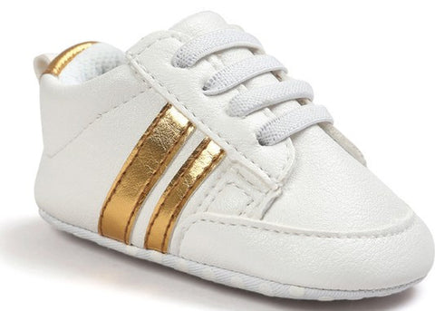 Fashion White Gold Baby Sneaker