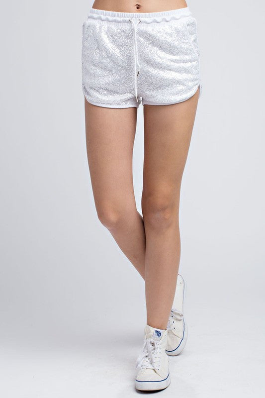 Fashion Silver Sequence Shorts