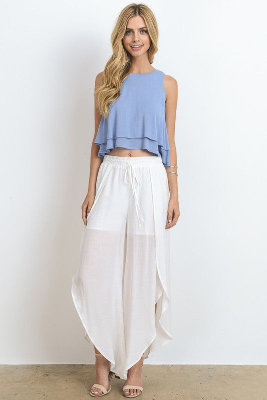 Summer White Cut Out Pants