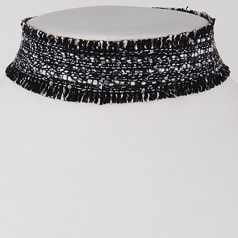 Elegant Beaded Choker Black Necklace
