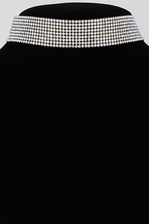 Elegant Shiny Rhinestone Choker Necklace