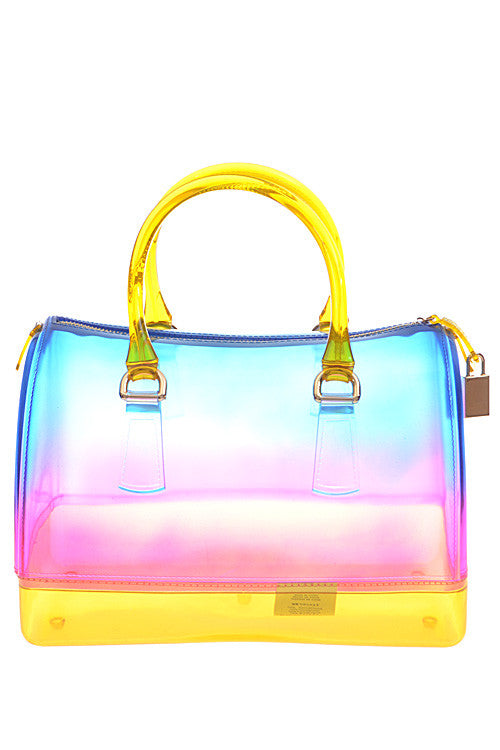 Summer Beach Blue Rainbow Tote