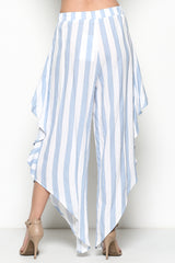 Elegant Ruffle Marine Resort Pants
