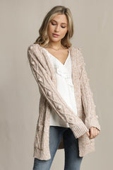 Elegant Blush White Embroidery Detailed Cardigan