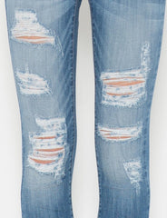 Light Blue Ripped Skinny Jean
