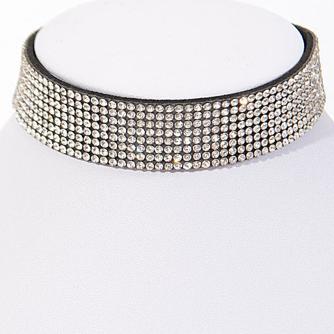 Elegant Rhinestone Lover Choker Necklace