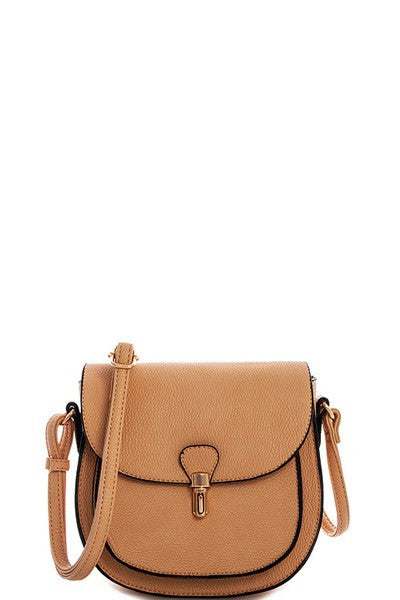 Elegant Princess Messenger Beige Bag