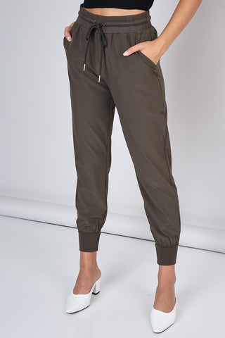 Elegant Military Green Jagger Pants