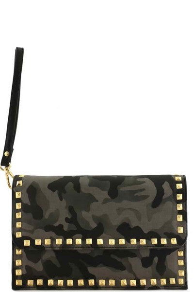 Fashion Clutch Bag Army Gold