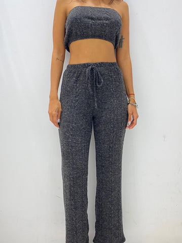 Fashion Black Crochet Joggers Pants