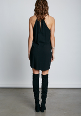 Fashion Tie-Up Black Dress