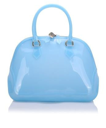 Elegant Blue Double Handle Bag