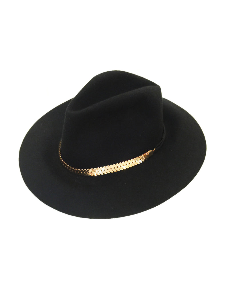 Classic Fedora Hat with Half Circle Charm