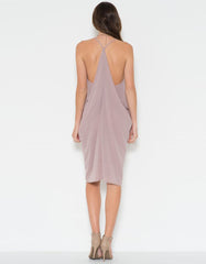Drape Cocktail Midi Dress
