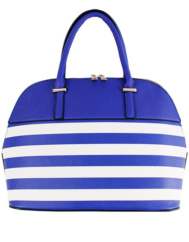 Elegant Blue Striped Fashion Handbag