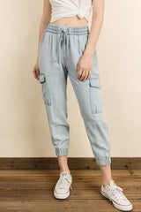 Fashion Denim Cargo Pants