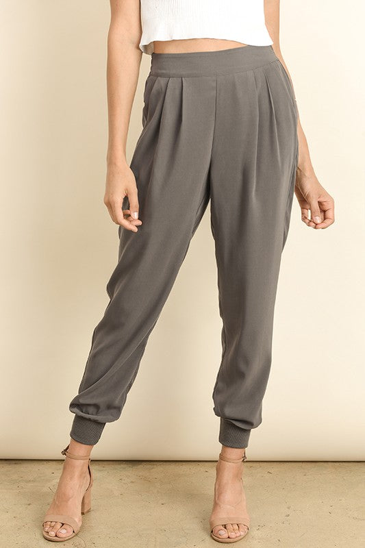 Elegant Fashion Grey Casual Pants