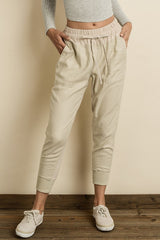 Fashion Beige Jogger Pants