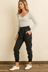 Fashion Black Jogger Pants