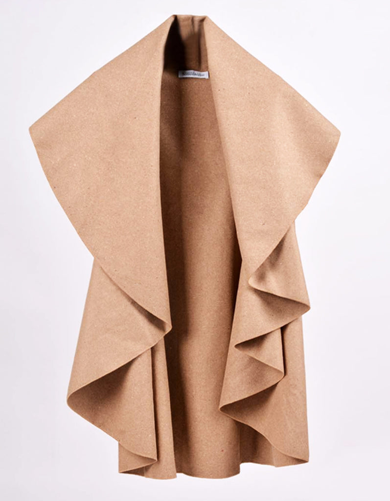Fashion Beige Wool Cape