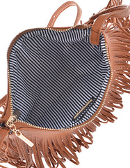 Fashion Fringe Mini Handbag Brown