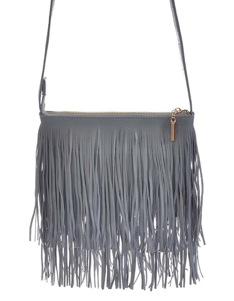 Fashion Fringe Mini Handbag Grey