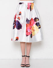 Floral A-Line Skirt