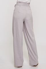 Fashion High Waisted Silver Pants