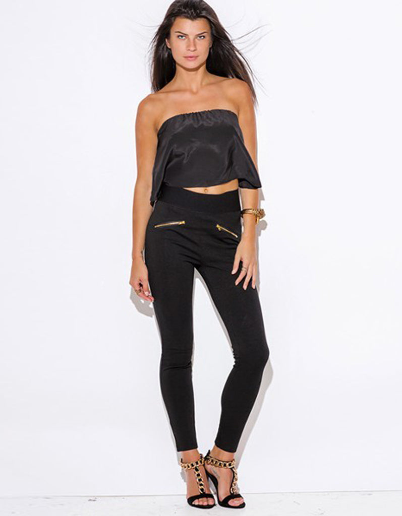 High Waisted Band Skinny Pants