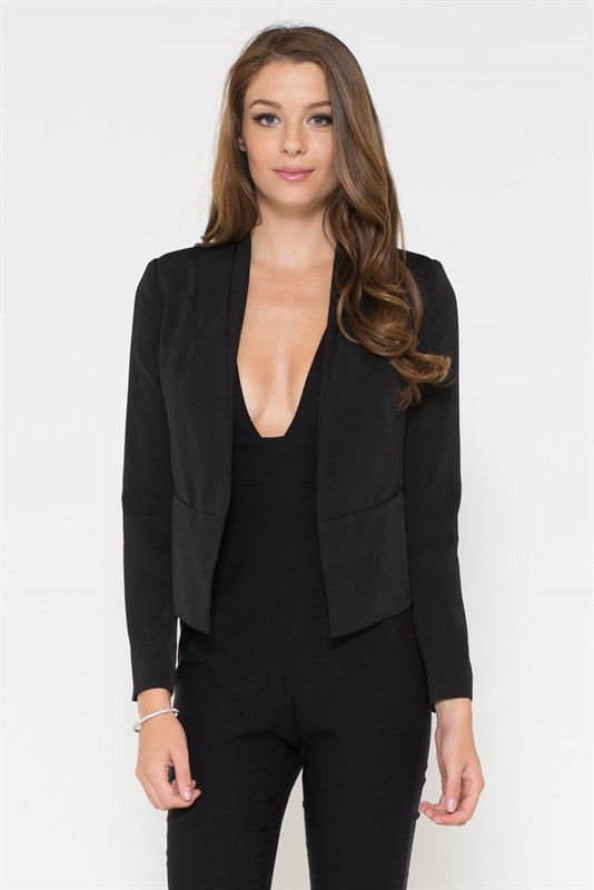 Elegant Black Blazer Jacket