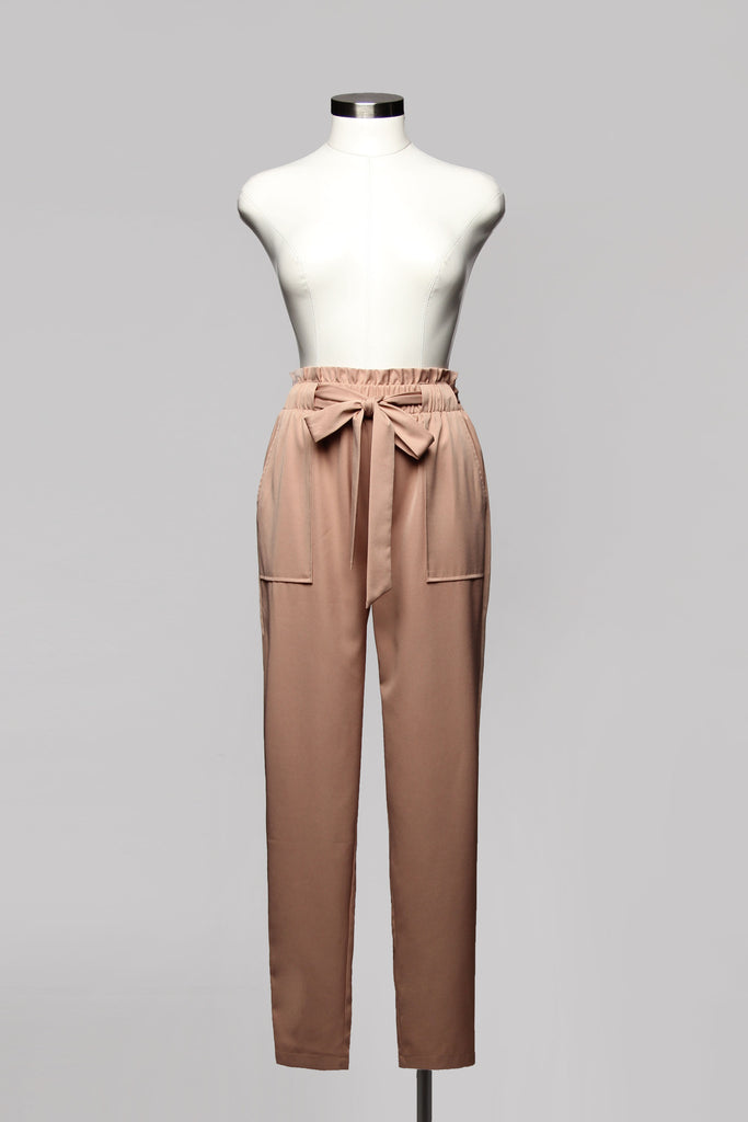 Fashion High Waisted Mocha Pants